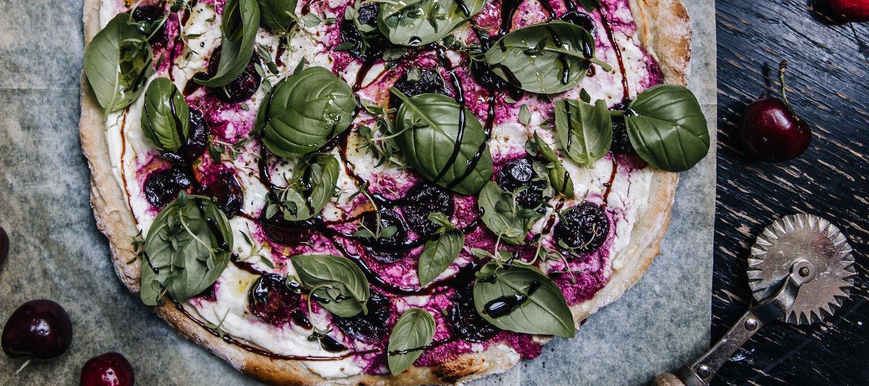Kirsikka-vuohenjuustopizza, gluteeniton