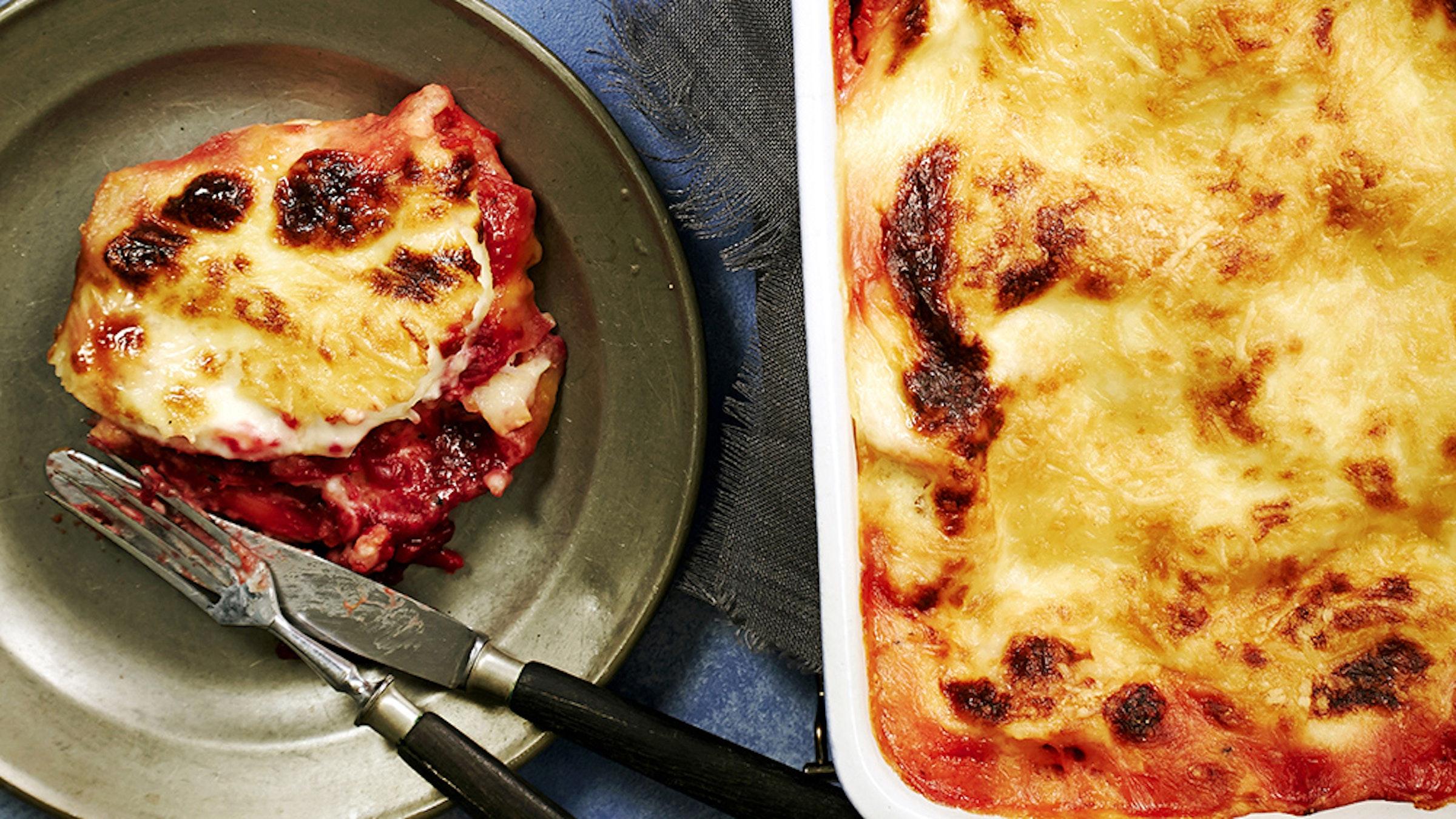 Punajuuri Vuohenjuusto Lasagne