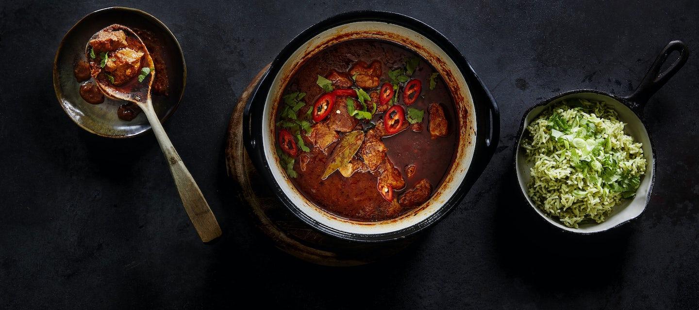 Carne con chili eli meksikolainen lihapata