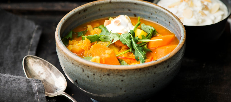 Linssi-porkkanakeitto