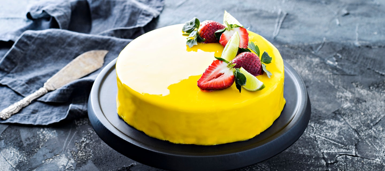 Mirror glaze -kakku