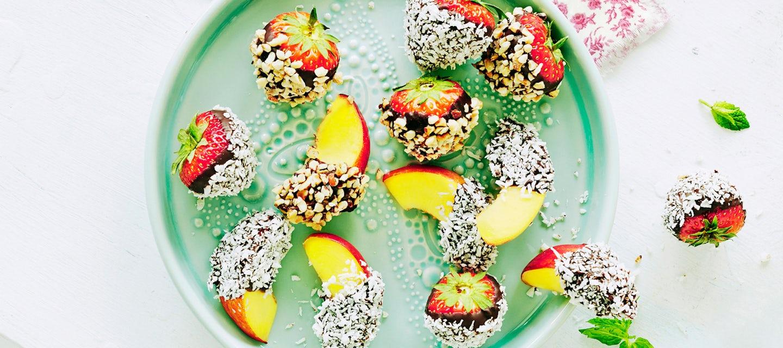 Suklaamansikat ja -nektariinit