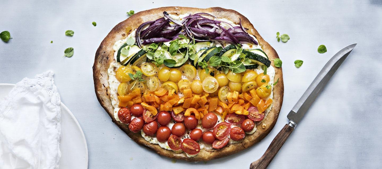 Sateenkaaripizza