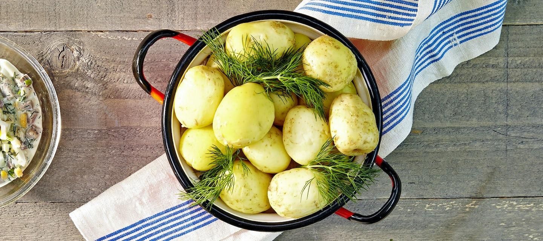 Keitetyt uudet perunat