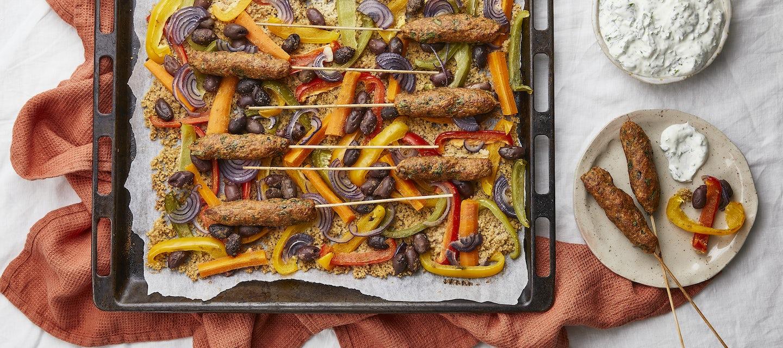 Marokkolainen vegejauhiskebakkopelti