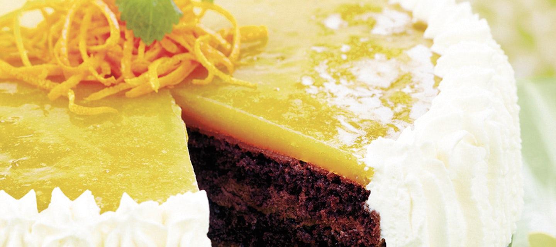 Suklainen appelsiinihyytelökakku
