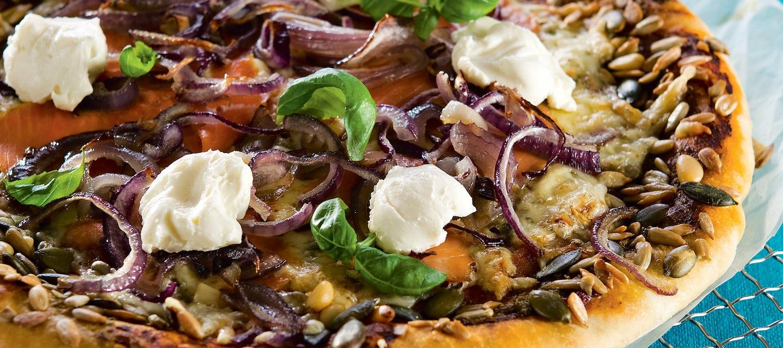 Lohi-tuorejuustopizza