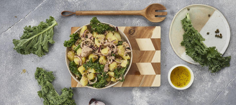 Tonnikala-perunasalaatti