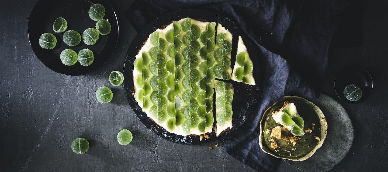 Vihreät kuulat-kakku